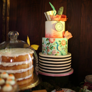 Alice in Wonderland Baby Shower Wedding Photo By: Allori Photography