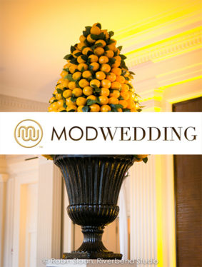 "Mod Weddings ""Refreshing Chicago Wedding with Modern Summertime Decor"""