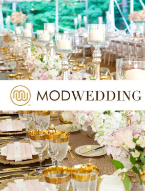 "Mod Wedding ""Glamorous Tented Chicago Wedding at Luxurious Private Estate"""